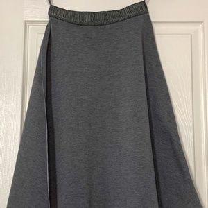 HD in Paris Gray Flared Skirt